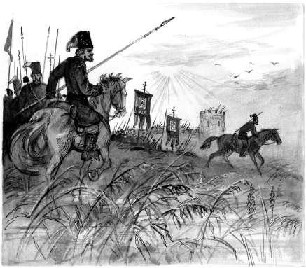 ...в Ростовской области сражение за Азовскую крепость.